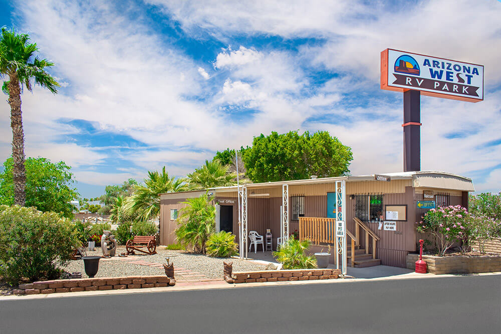 Contact page - Arizona West RV Park office
